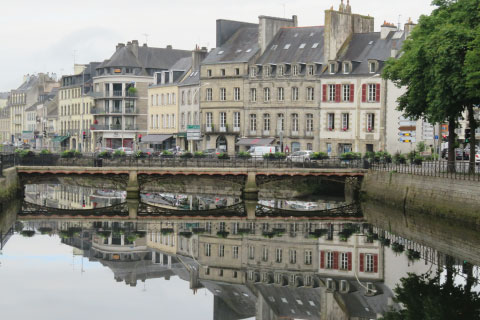 Looking down a river in Brittany