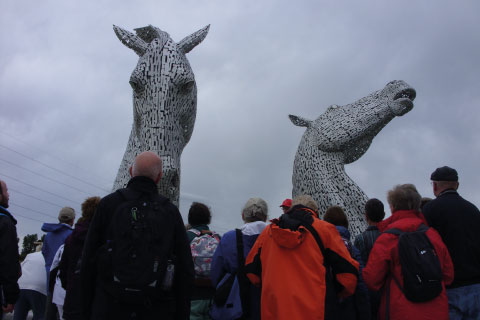 Visiting the Kelpies